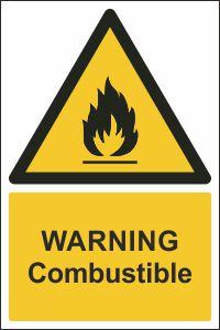 Warning - Combustible