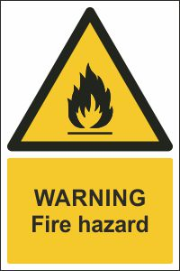Warning - Fire Hazard