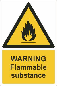 Warning - Flammable Substance