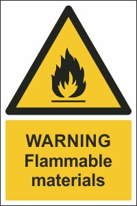 Warning - Flammable Materials