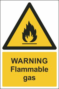 Warning - Flammable Gas