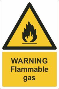 Warning - Flammable Gas