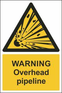 Warning - Overhead Pipeline