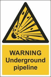 Warning - Underground Pipeline