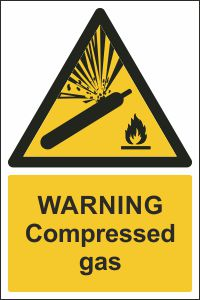 Warning - Compressed GasWarning - Compressed Gas