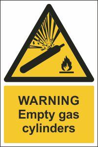 Warning - Empty Gas Cylinders