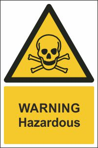 Warning - Hazardous