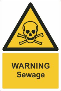 Warning - Sewage