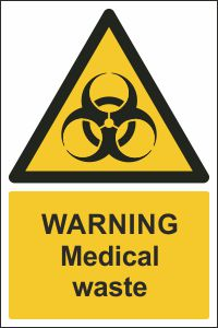 Warning Medical Waste Sign Buy Online Ireland Amp Uk