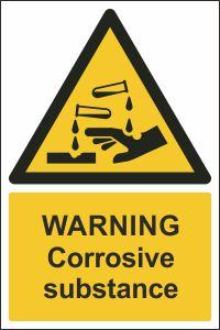 Warning - Corrosive Substance