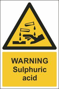Warning - Sulphuric Acid