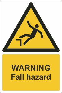 Warning - Fall Hazard