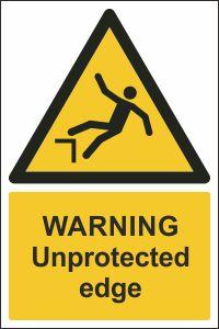 Warning - Unprotected Edge