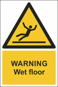 Warning - Wet Floor