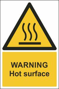 Warning - Hot Surface