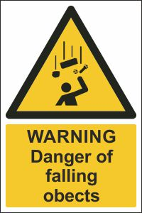 Warning - Danger of Falling Objects