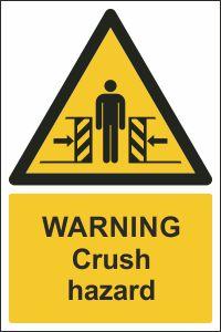 Warning - Crush Hazard