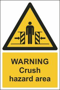 Warning - Crush Hazard Area