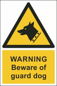 Warning - Beware of Guard Dog