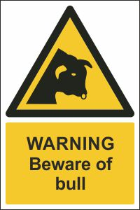 Warning - Beware of Bull