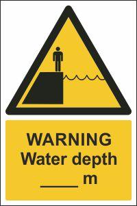 Warning - Water Depth ___m