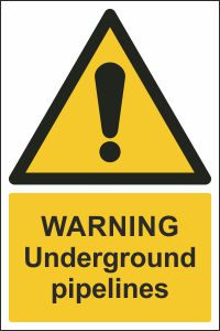 Warning - Underground Pipelines