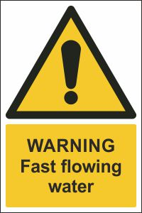 Warning - Fast Flowing Water