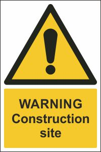 Warning - Construction Site