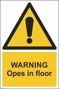 Warning - Opes in Floor