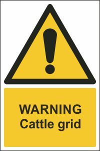 Warning - Cattle Grid
