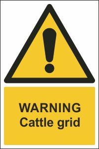 Warning - Cattle Grid