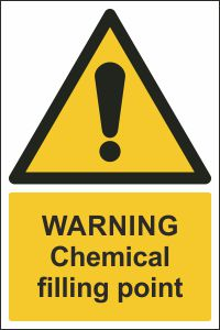 Warning - Chemical Filling Point