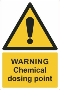 Warning - Chemical Dosing Point