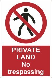 Private Land - No Trespassing