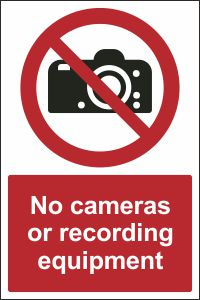 No Cameras or Recording Equipment