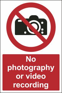 No Photography or Video Recording