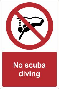 no scuba diving sign buy online ireland amp uk css signs