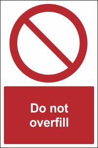 Do Not Overfill