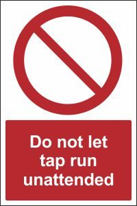 Do Not Let Tap Run Unattended