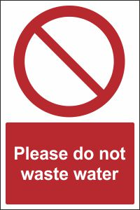 Please Do Not Waste Water