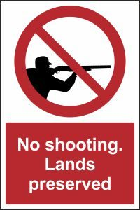 No Shooting. Lands Preserved