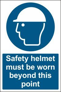 Safety Helmet must be Worn beyond this Point