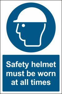 Safety Helmet must be Worn at all Times