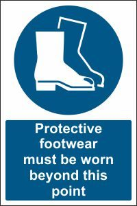 Protective Footwear must be Worn beyond this Point