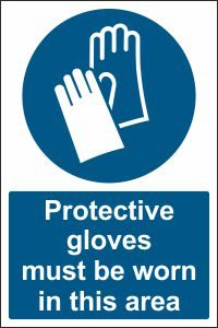 Protective Gloves must be Worn in this Area