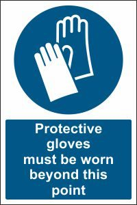 Protective Gloves must be Worn beyond this Point