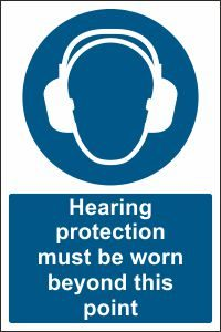 Hearing Protection must be Worn beyond this Point