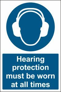 Hearing Protection must be Worn at all Times