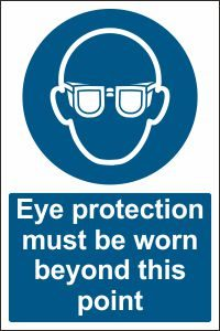 Eye Protection must be Worn beyond this Point