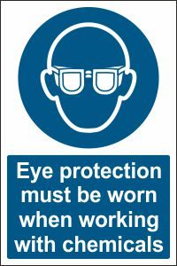 Eye Protection when Working with Chemicals